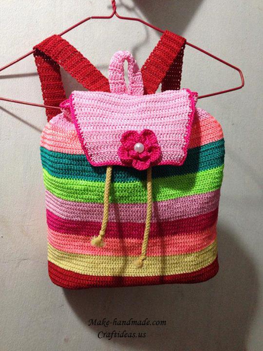 Crochet Rainbowl Baby Backpack Crochet Ideas Craft Ideas