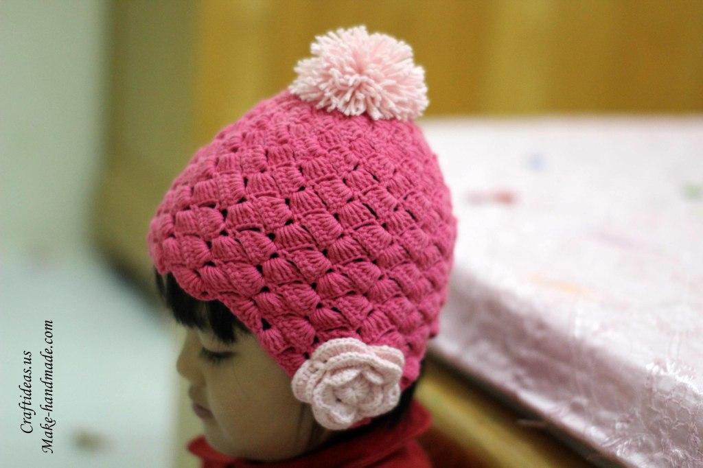 Crochet so cute hat for little princess idea