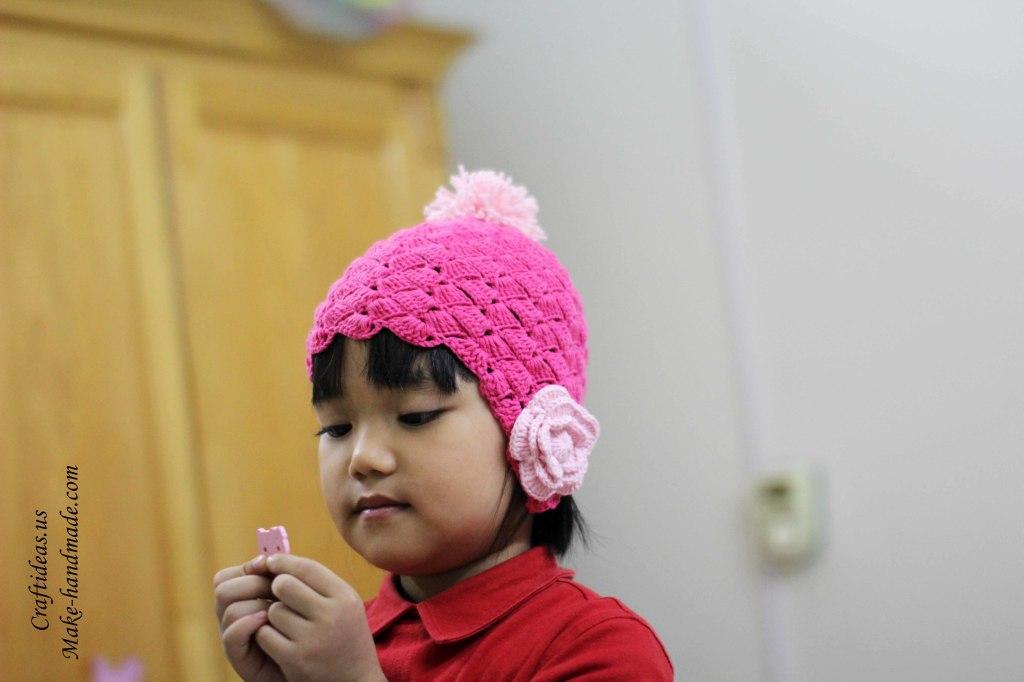 Crochet so cute hat for little princess ideas