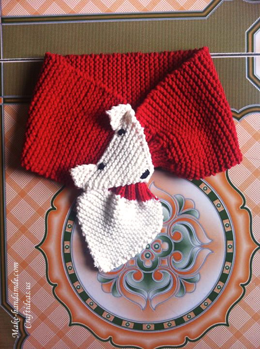 Knitting baby fox scarf ideas