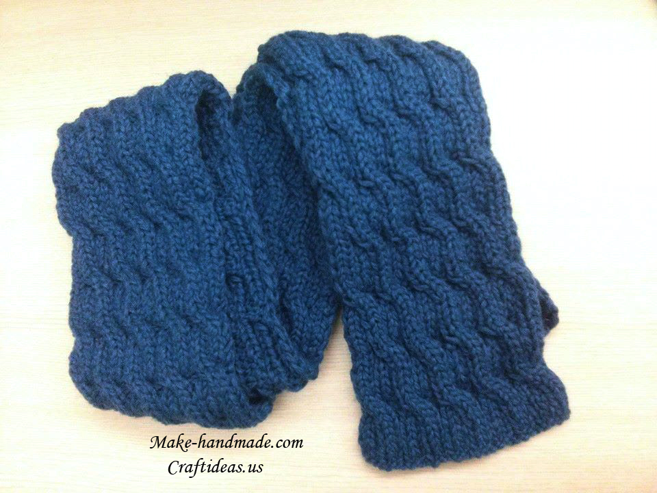 Knitting cable boy scarf