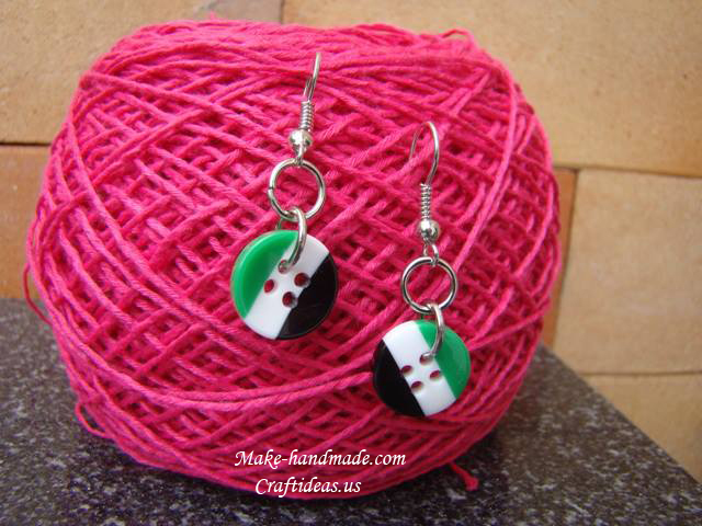 bottons earrings for kids