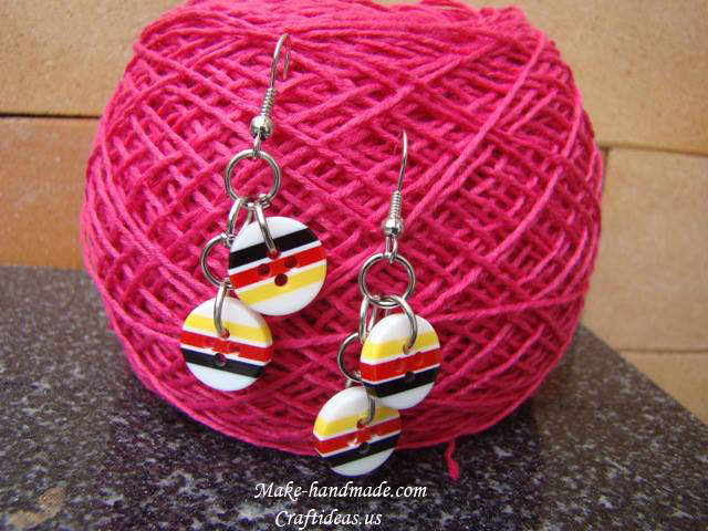 bottons earrings ideas