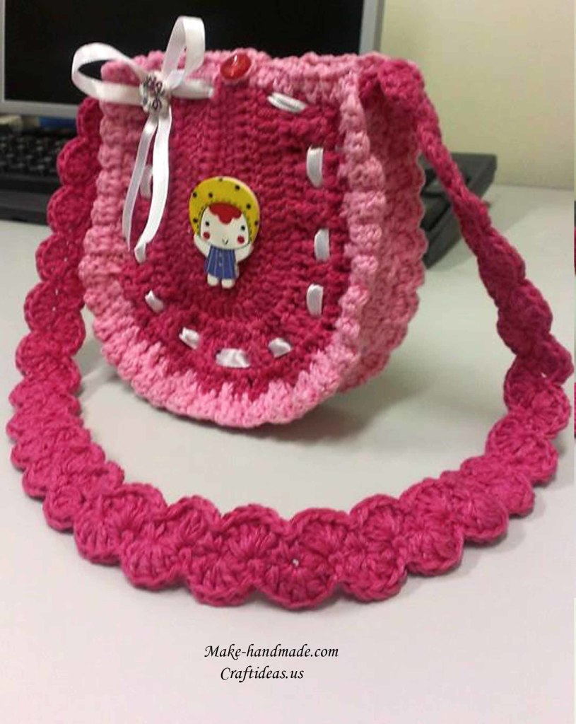 Crochet cute baby purse and handbag idea, crochet chart