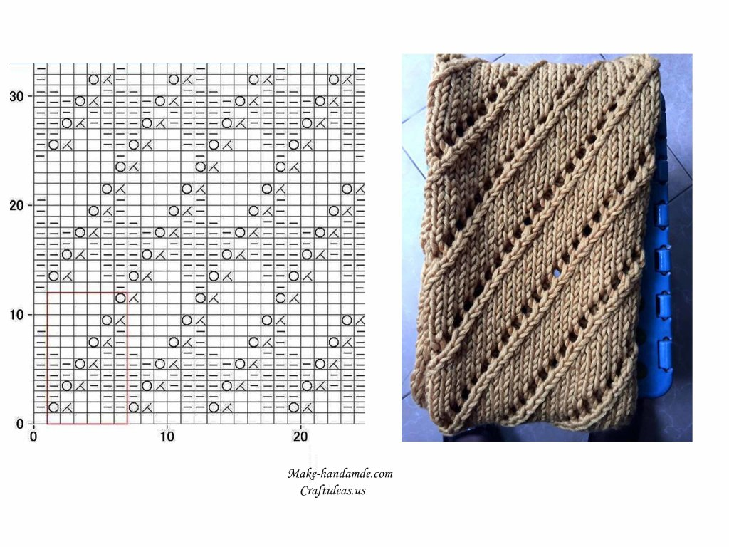 knitting beautiful scarf for all, knitting diagram
