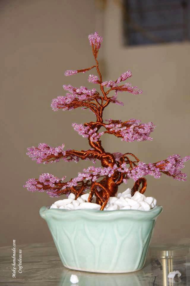 pink bead tree