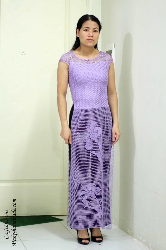 Crochet Viet nam dress of filet idea