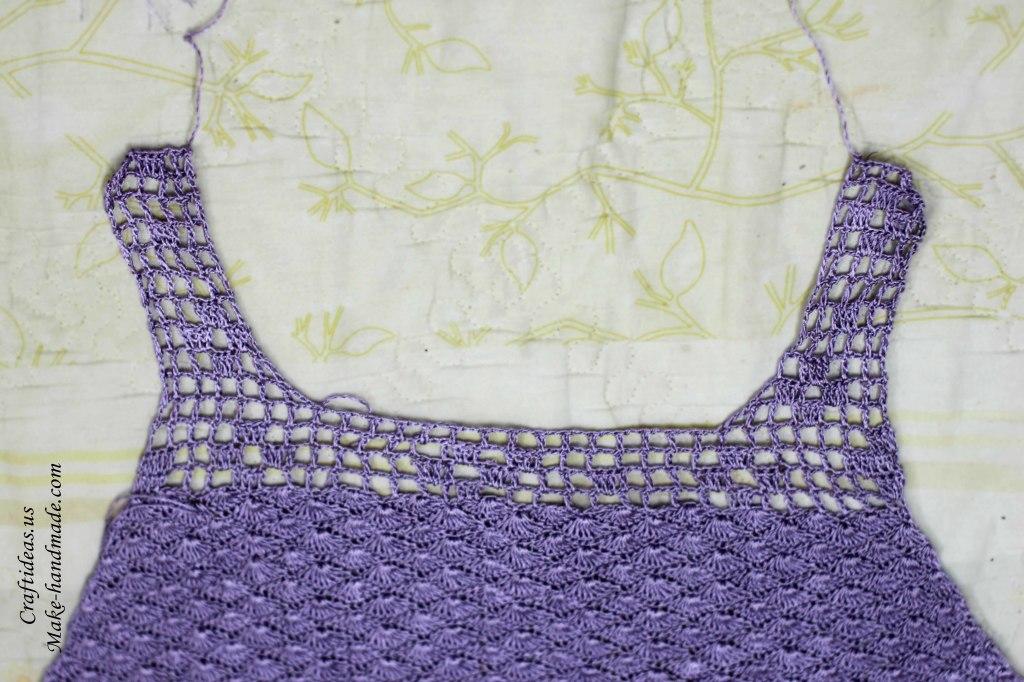 Crochet front part for women dress