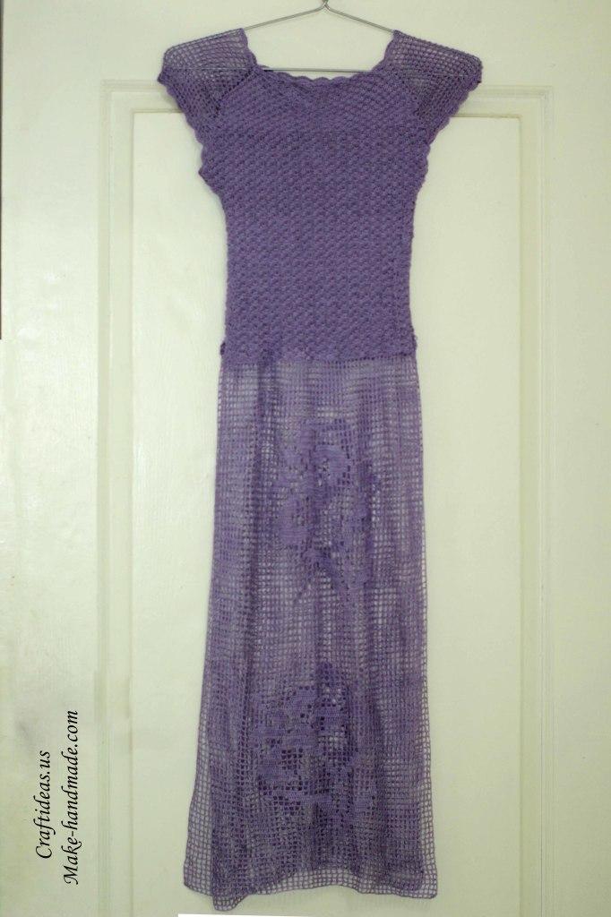 Crochet lace summer dress idea