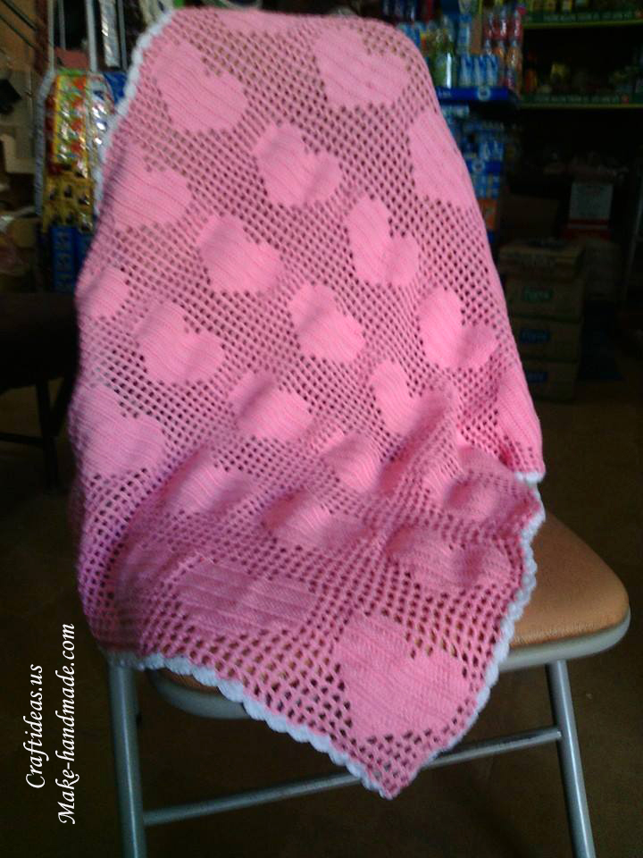 Crochet Granny Square Baby Afghan Patterns : Baby Heart Crochet Afghan Patterns Blankets Pattern Book ...