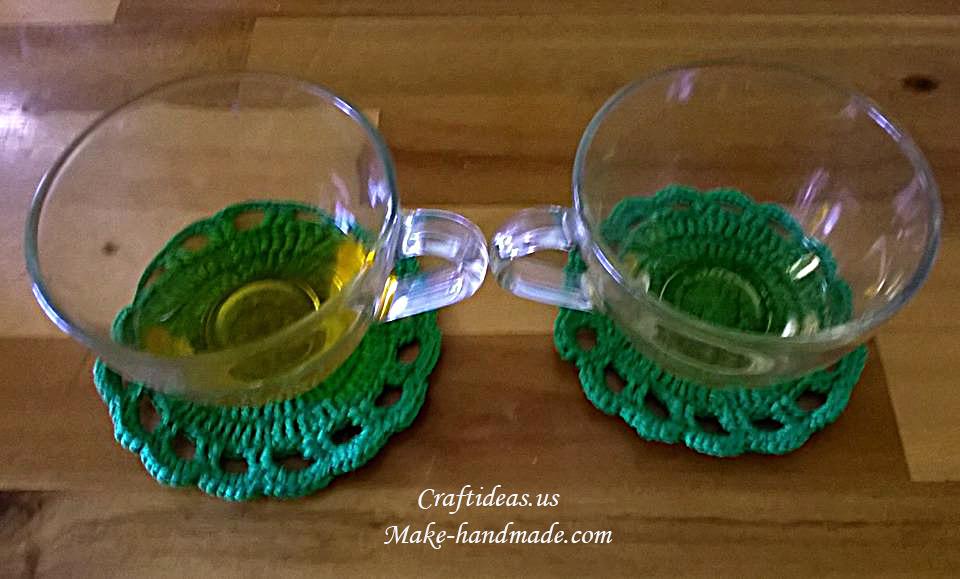 Crochet Easy Round Coaster Ideas Craft Ideas