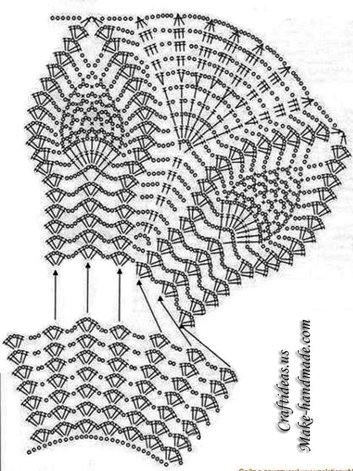 Top Free Crochet Graph Pattern : Crochet Easy Summer Crop Top For Beach Crochet Chart And ...