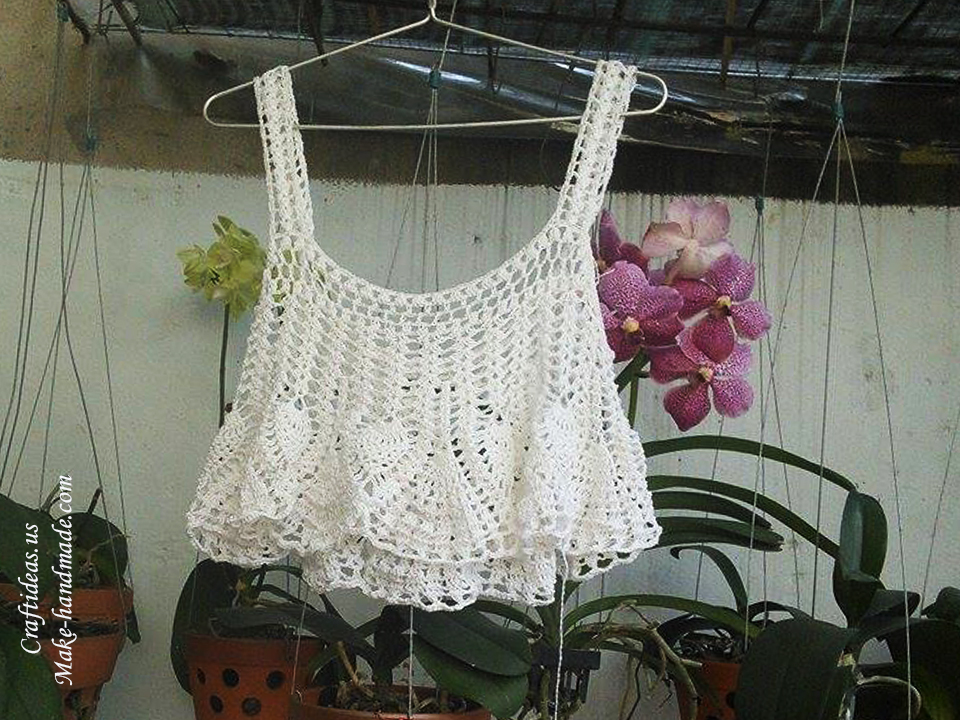 Crochet Easy Summer Crop Top For Beach Craft Ideas