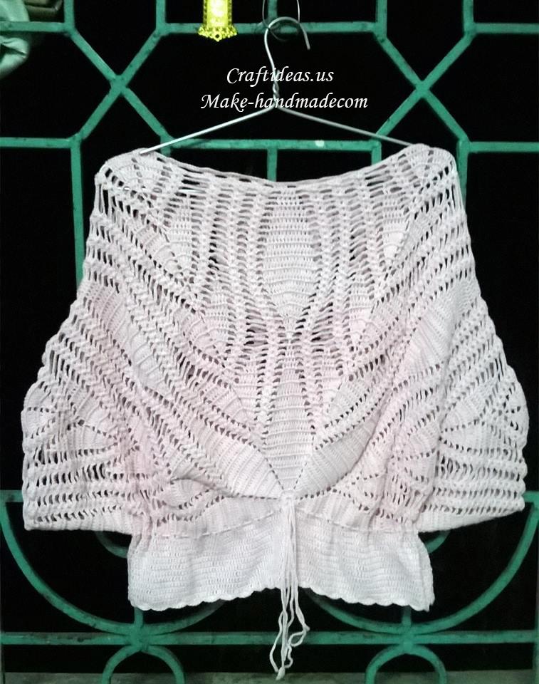Crochet lace cute top for women craft ideas for Craft ideas for women
