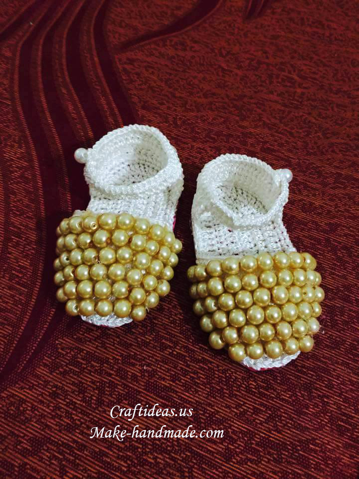 Free Crochet Pattern Baby Boy Vest : Crochet baby sandals with bead - Craft Ideas