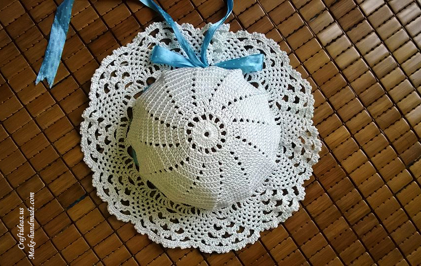Crochet beauty lace summer hat - Craft Ideas