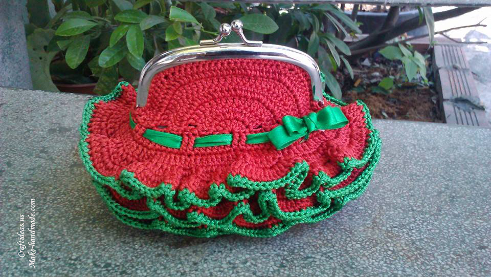 Crochet cute purse for little girl, crochet idea