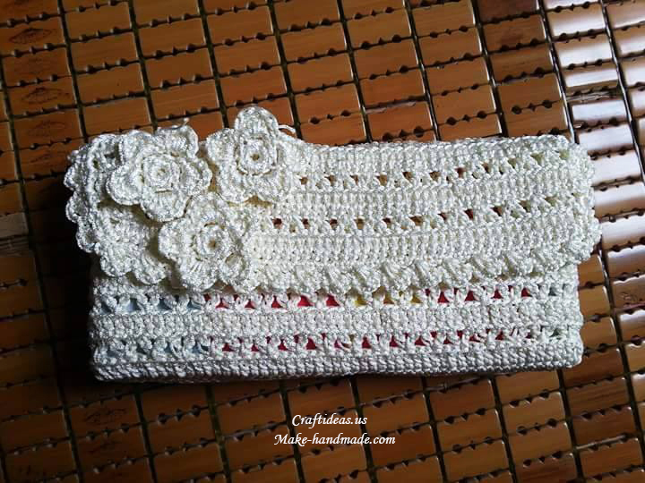 Crochet Purse Ideas : Crochet easy purse idea, crochet pattern and chart