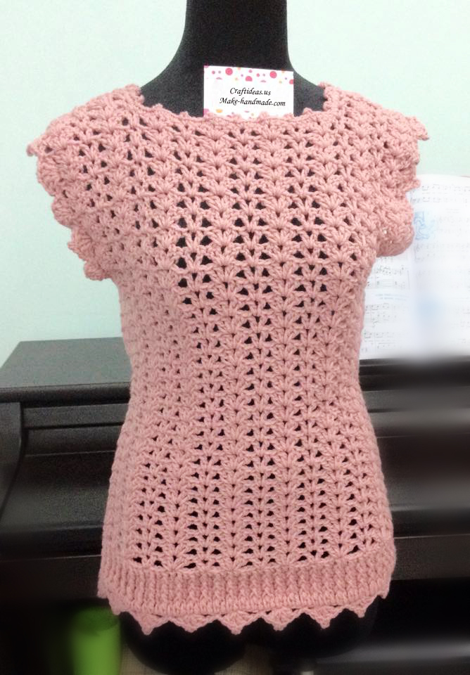 Crochet Patterns For Ladies Tops : Crochet easy top for women - Craft Ideas