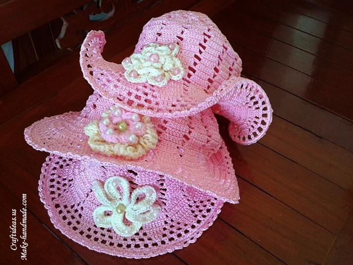 Crochet summer baby hat crochet idea - Craft Ideas