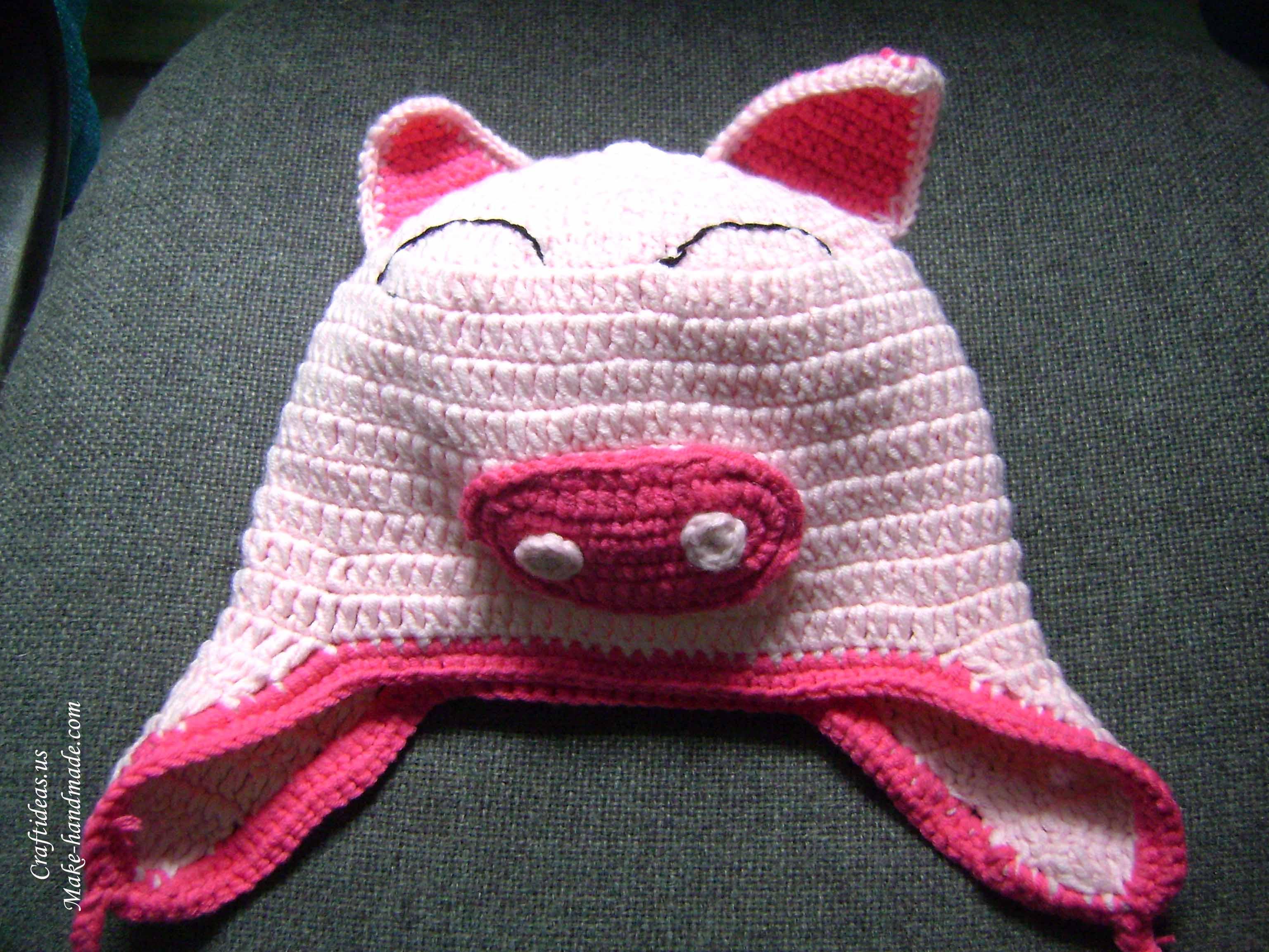 Crochet Pattern Pig Hat : Crochet Pig Hat www.imgkid.com - The Image Kid Has It!