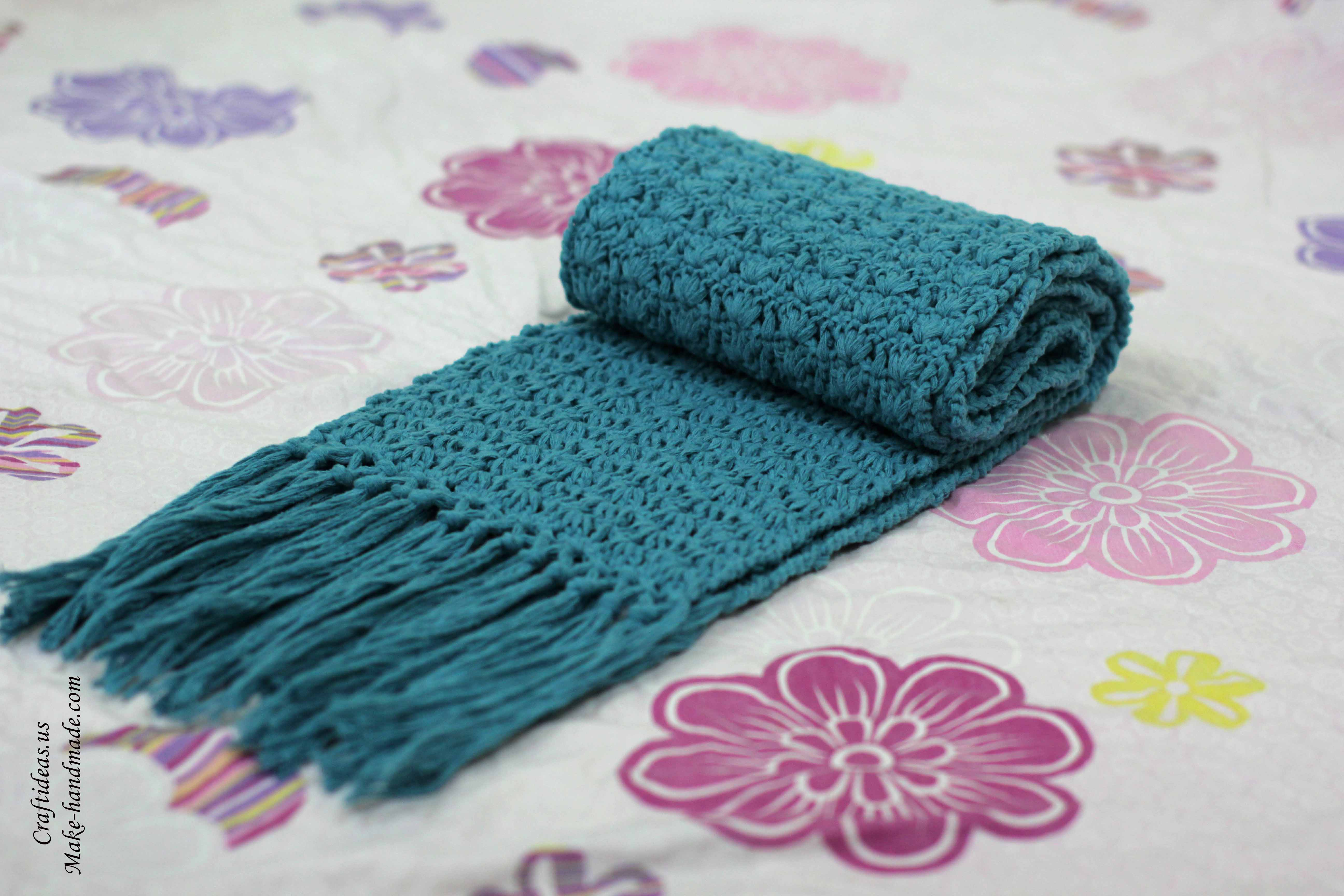 Crocheting Ideas : Crochet easy scarf idea - Craft Ideas
