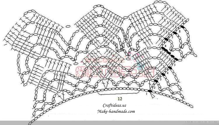 Crochet dress craft ideas crochet collar with this diagram ccuart Images