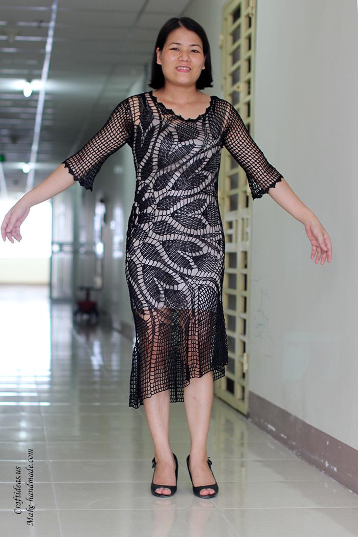 Crochet Lace Summer Dress For Beach And Evening Craft Ideas
