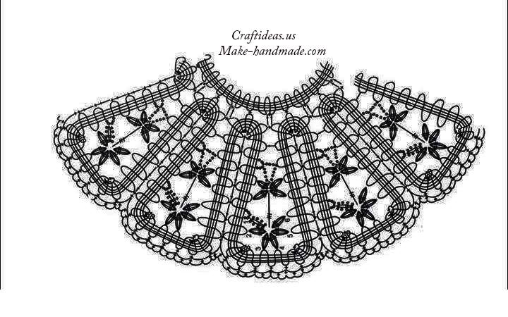 Crochet collar for cute dress crochet chart