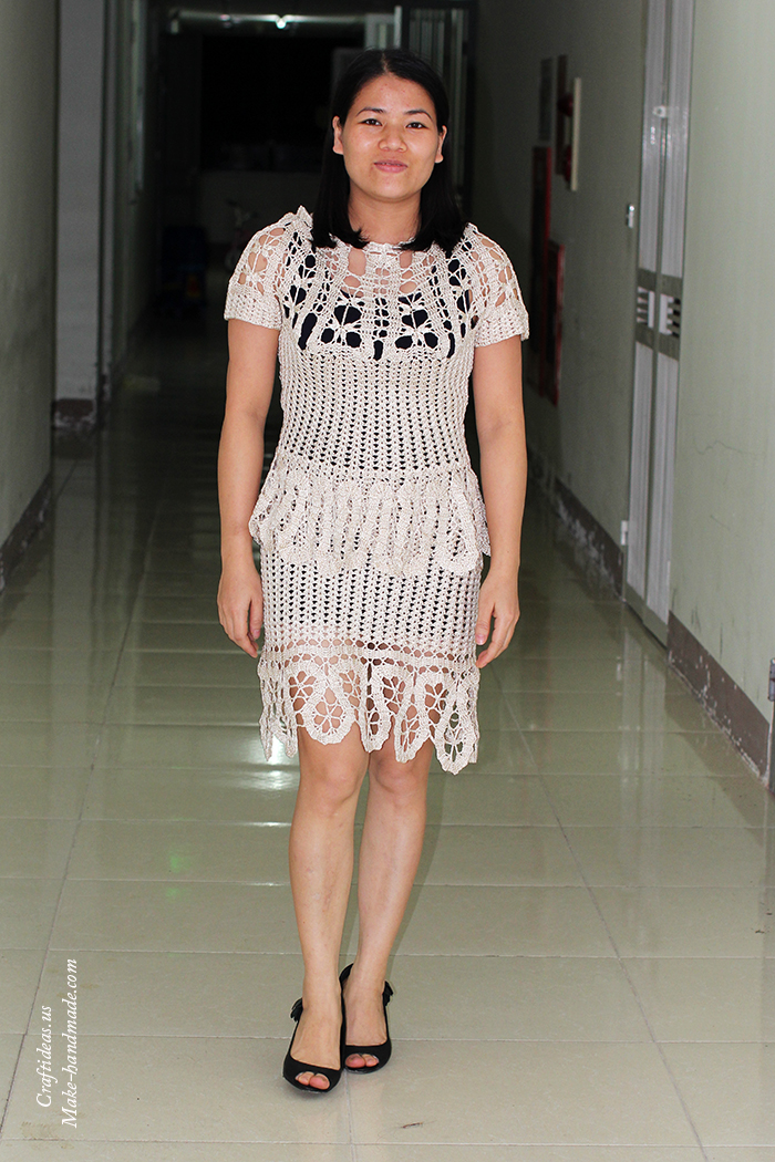 Crochet cutest dress for women