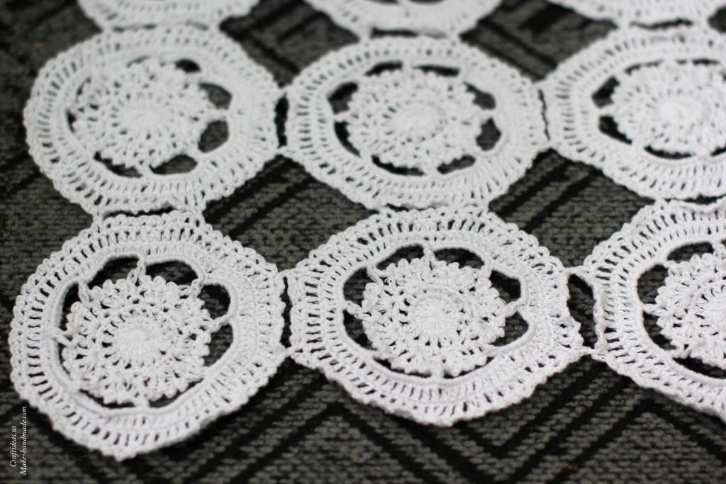 Crochet flower doily for your home