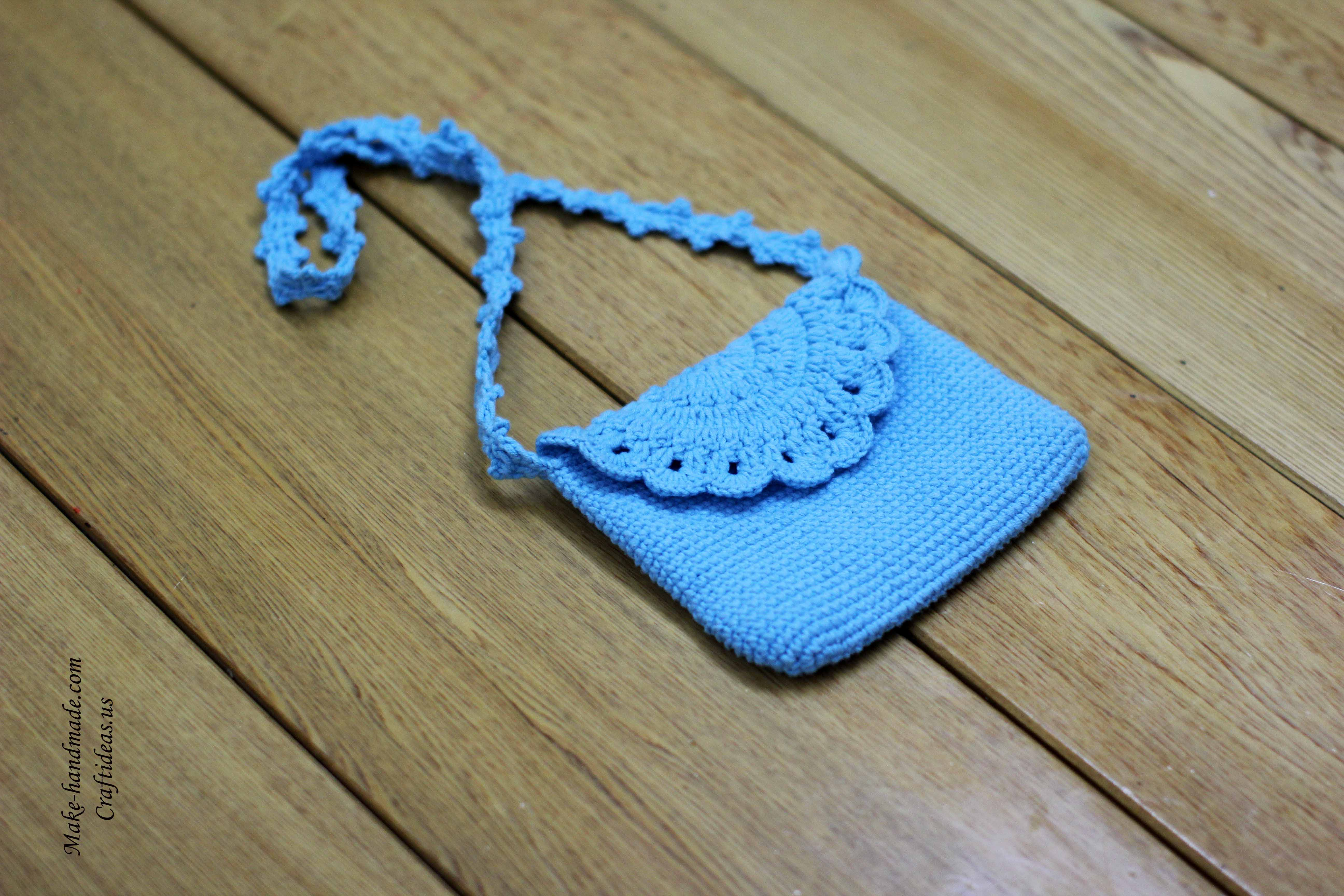Crochet cute baby bag and purse, crochet idea