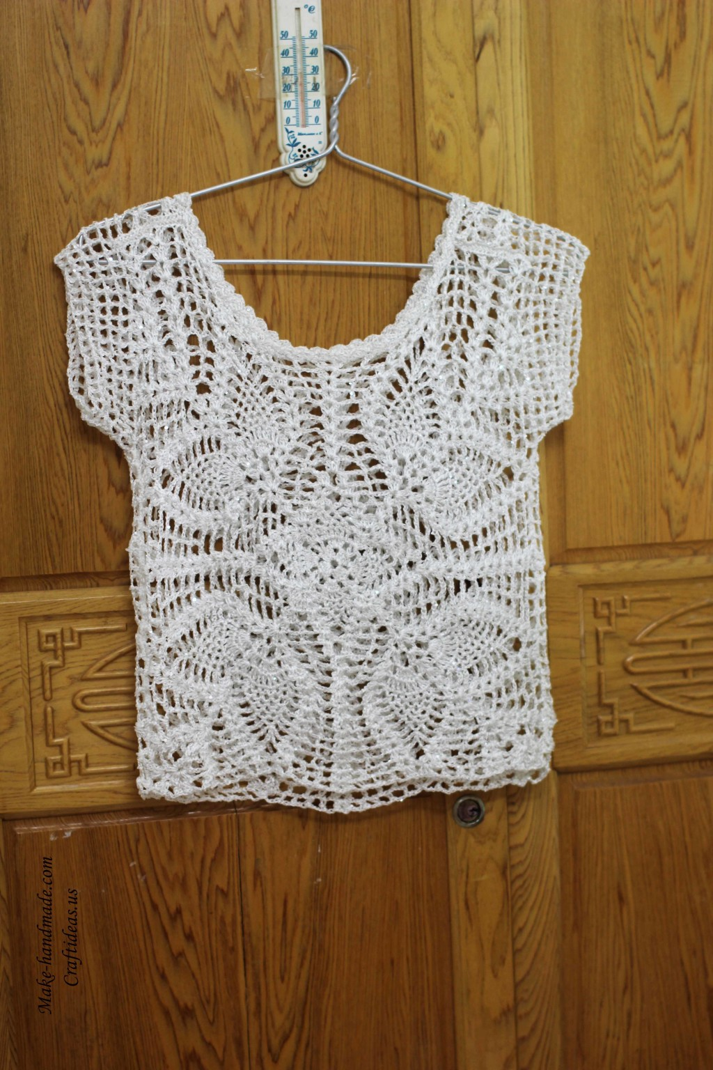 Crochet lace summer top