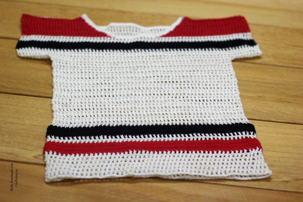 Crochet summer sweater for girl