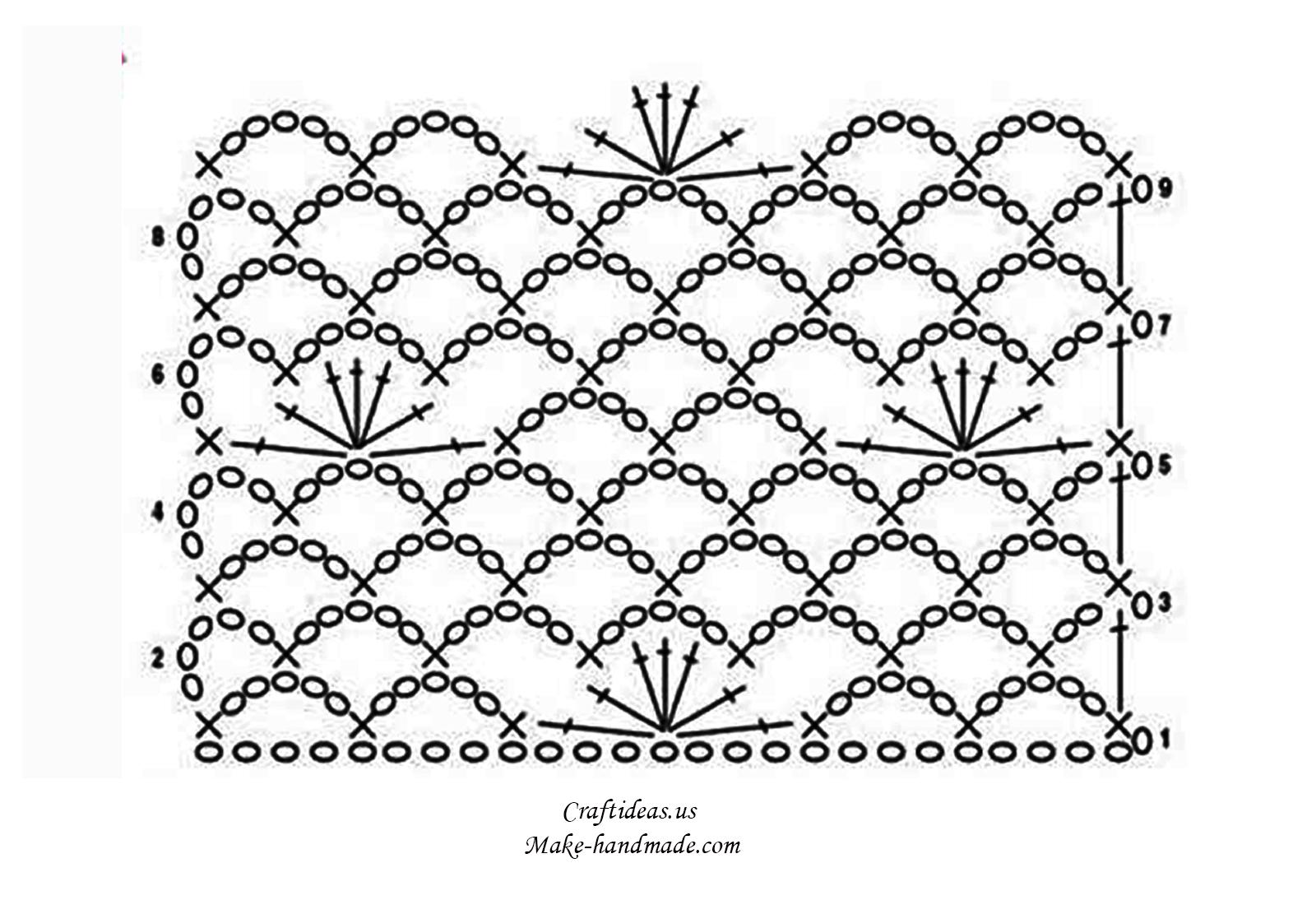 Рисунки для вязания крючком со схемами 37
