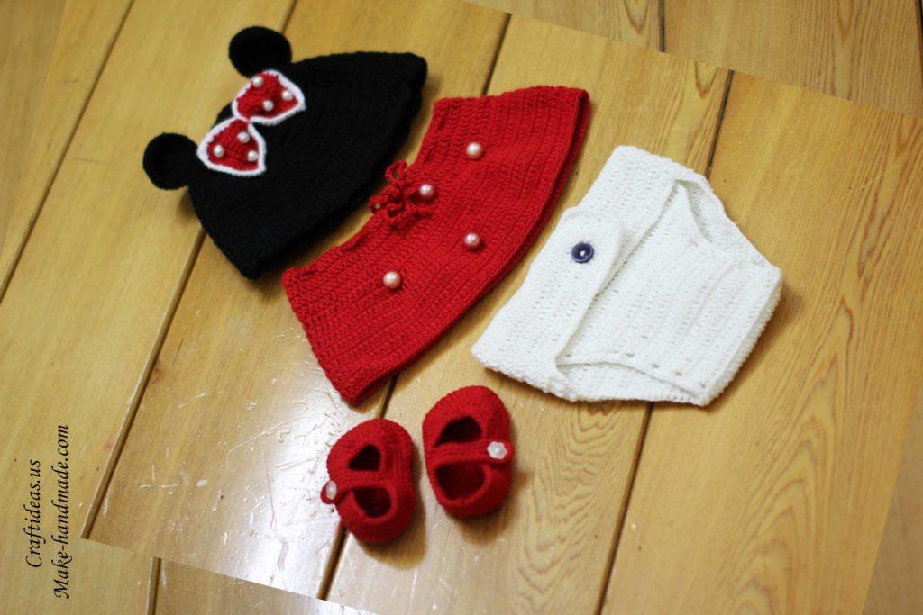 crochet-cute-mickey-baby-set