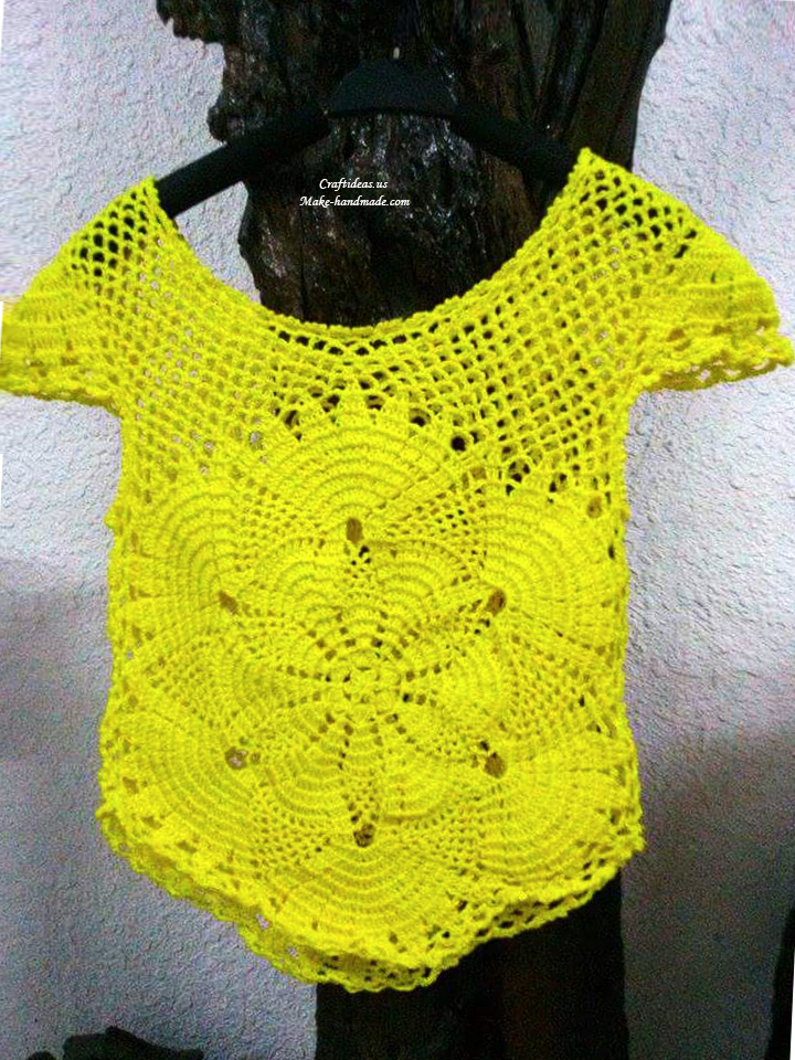 Crochet fashion cute top for women craft ideas for Craft ideas for women