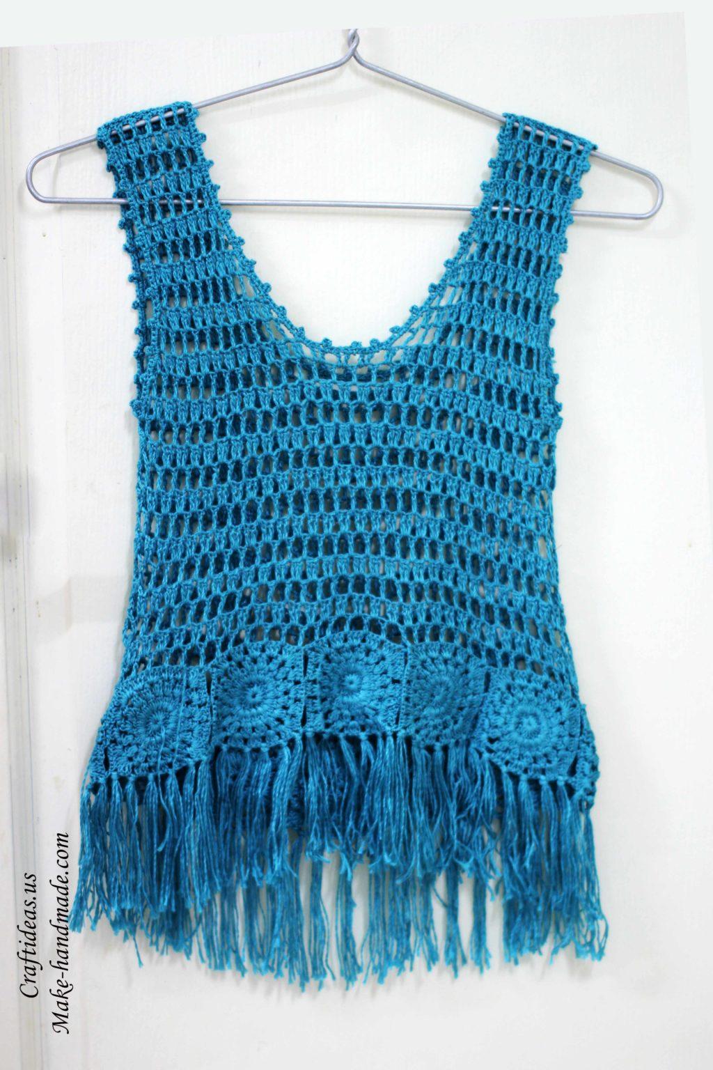 Crochet fashion cute summer top for women craft ideas for Craft ideas for women