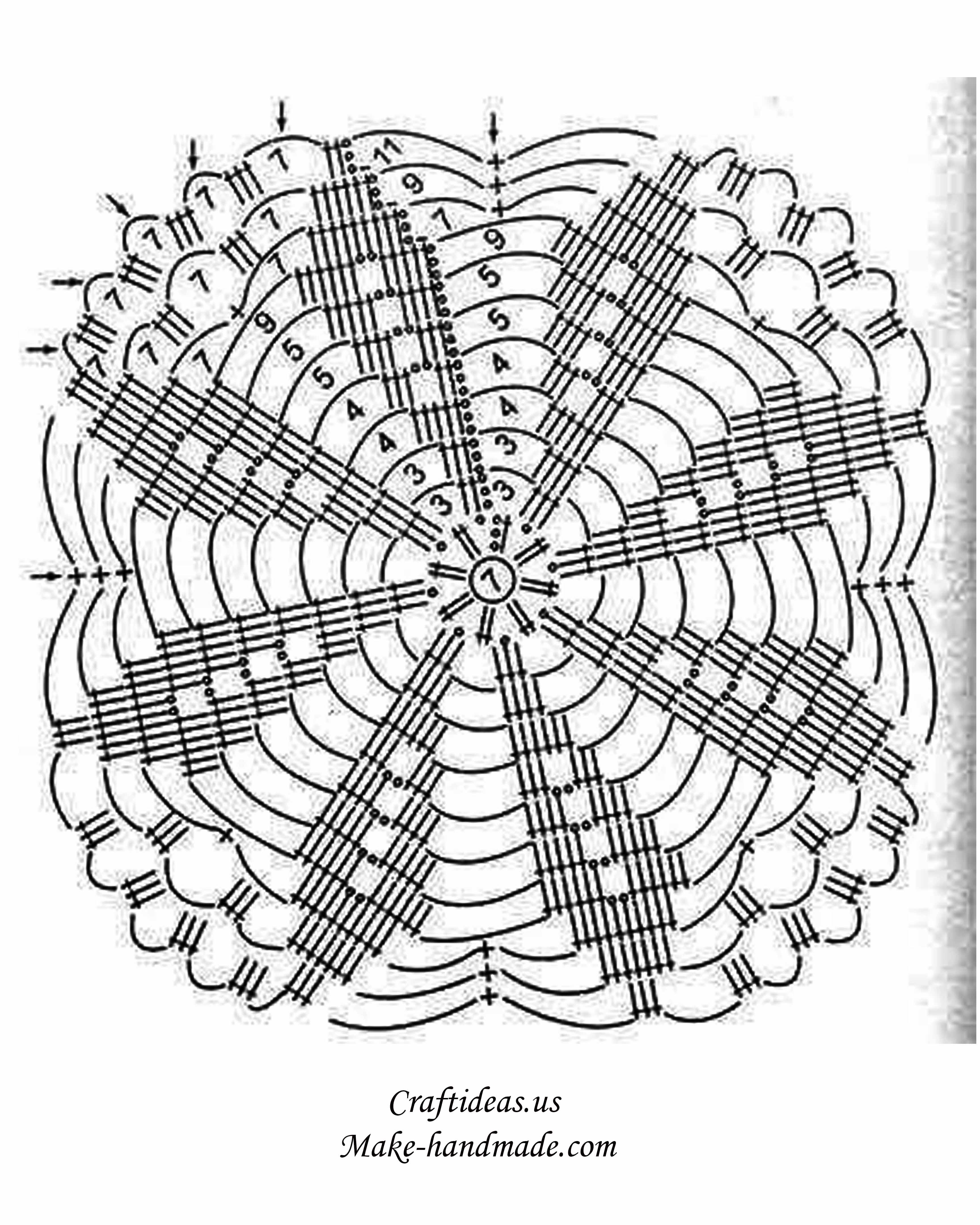 Crochet Shawls Craft Ideas Snowflakescrochetpatterndiagram Snowflakes Poncho Chart