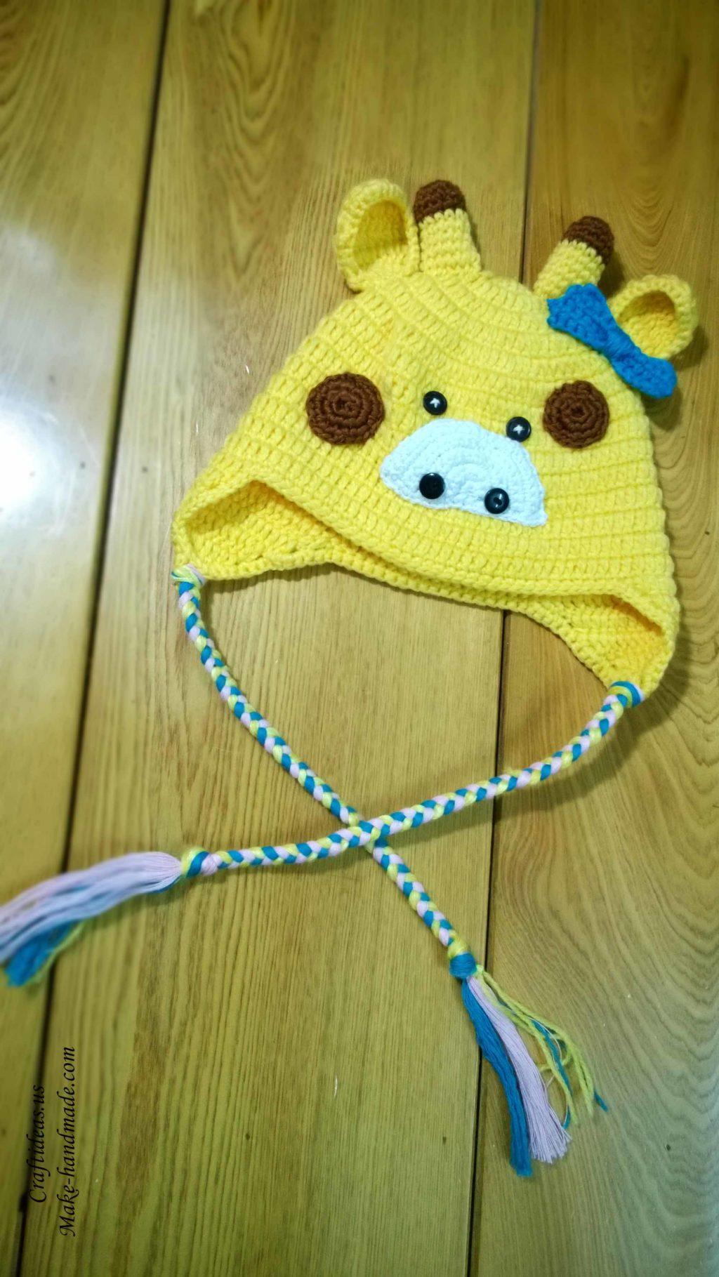 Crochet cute giraffe baby hat craft ideas for Crochet crafts for kids