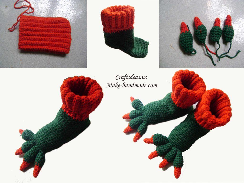 crochet-cute-monster-slippers