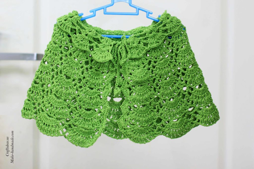 crochet-green-baby-poncho-and-shawl