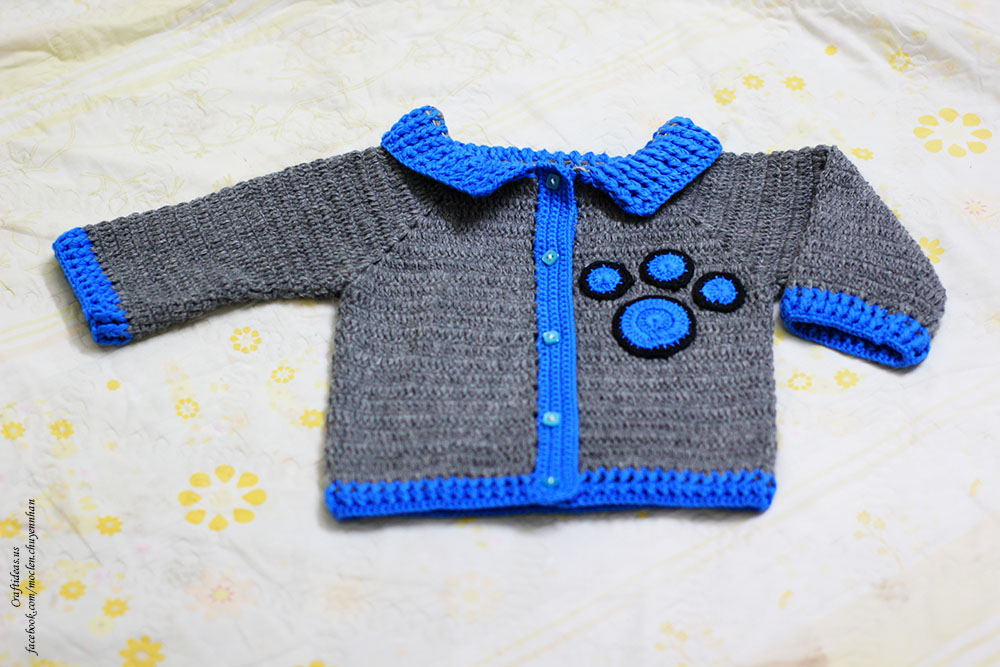 Crochet baby boy coat