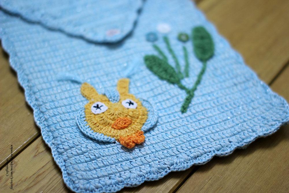 Crochet cute baby handbag