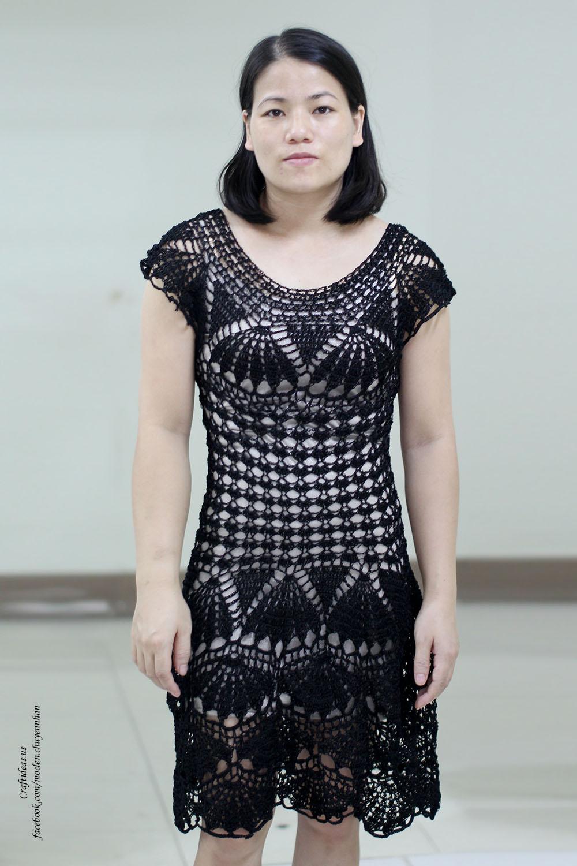 Crochet cute fancy dress for women