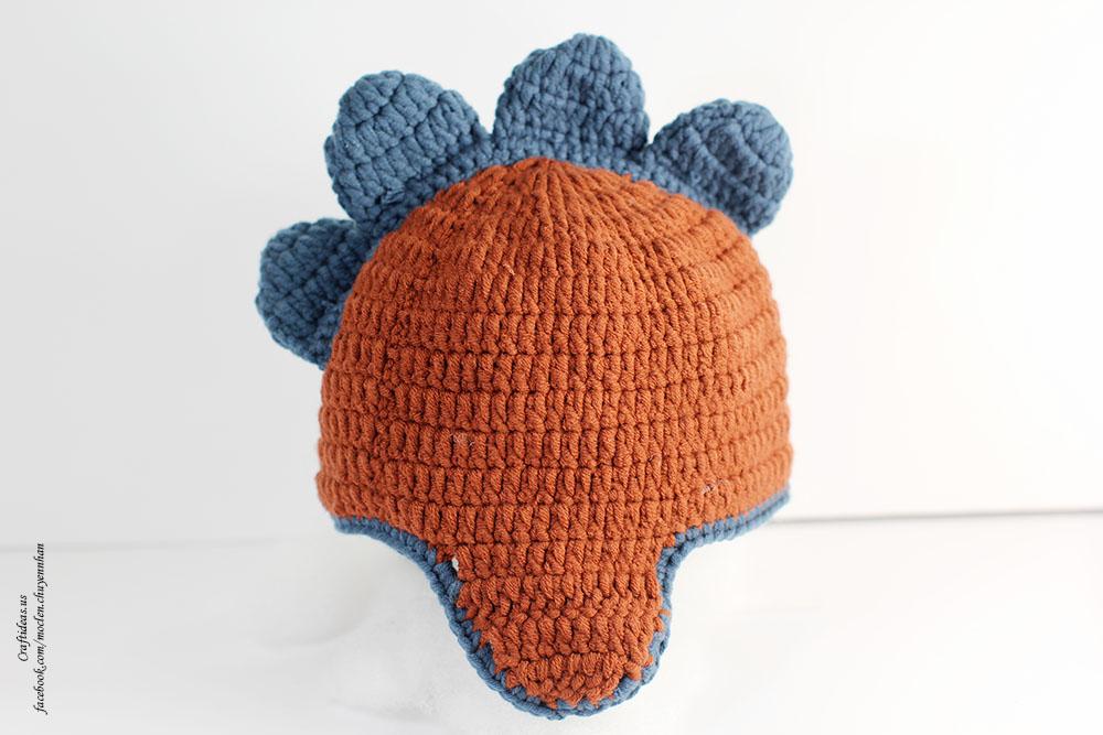 Crochet dragon baby hat