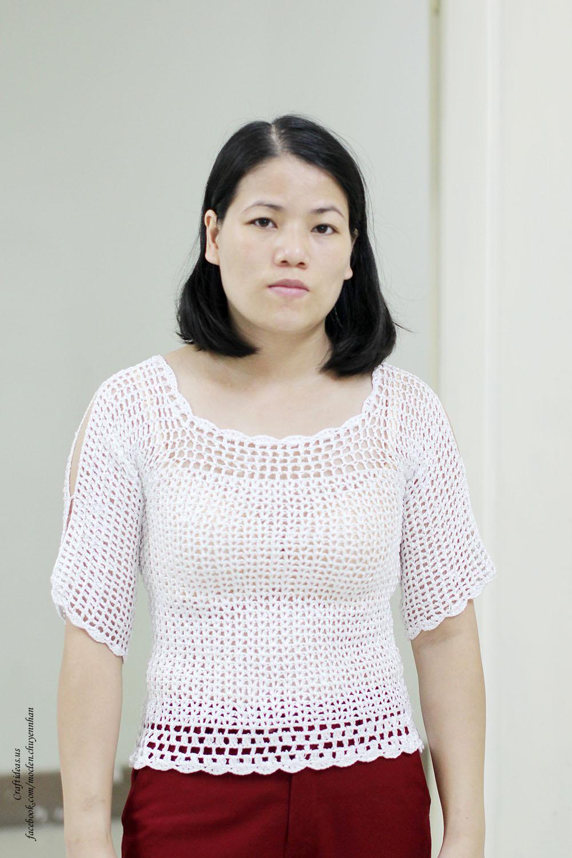Crochet easy T sweater for girl