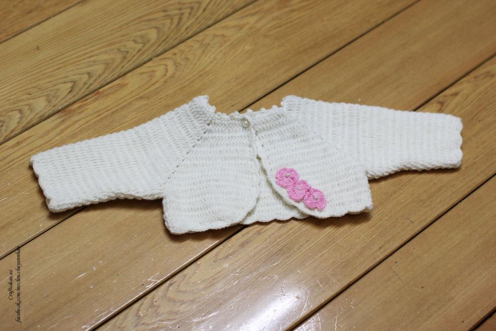 Crochet easy baby cardigan and bolero