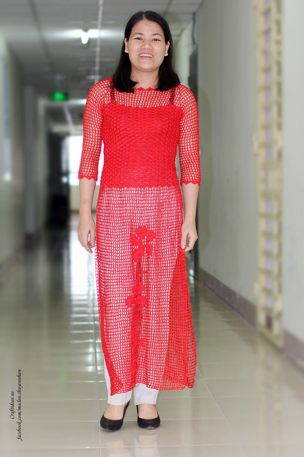 Crochet filet women dress