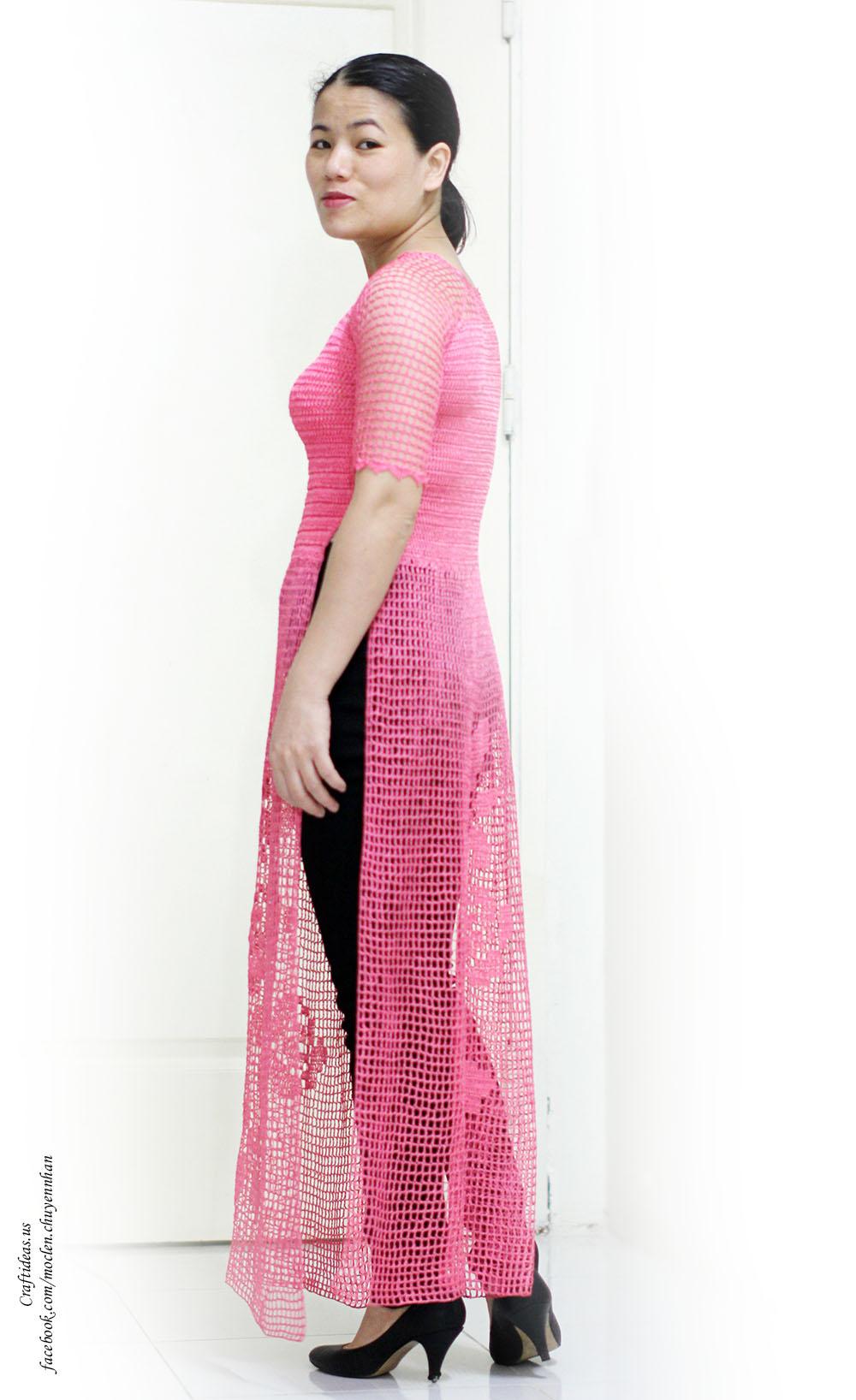 Crochet lace dress for women
